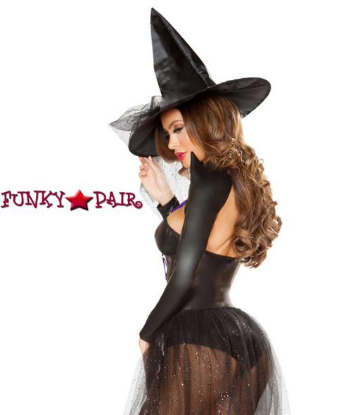 Roma | R-4793, Dark Witch Romper Costume back view