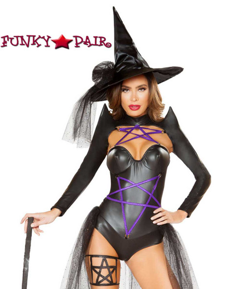 Roma | R-4793, Dark Witch Romper Costume close front view