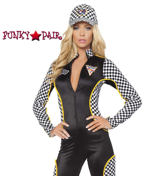 Roma Costume | R-4315, Wanna Race Jumpsuit close up view
