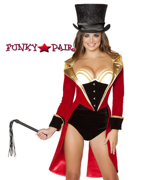 Roma Costume | R-4517, Naughty Ringleader close up view