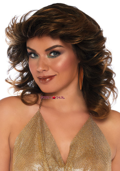 Leg Avenue | LA-2830, Brown Short Wavy Wig