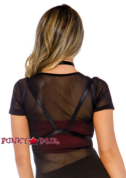 Spider Web Body Harness | Leg Avenue LA-2843 back view