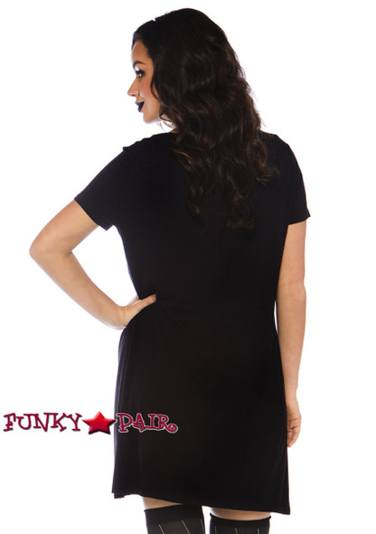 Leg Avenue | LA-86770, Undead Jersey Dress Costume back view