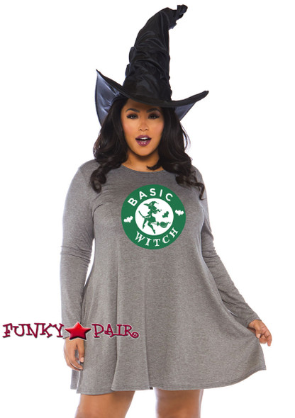 Plus Size Witch Jersey Dress Costume | Leg Avenue LA-86767X