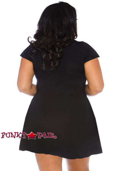 Plus Size Fangtastic Jersey Dress | Leg Avenue LA-86769X back view