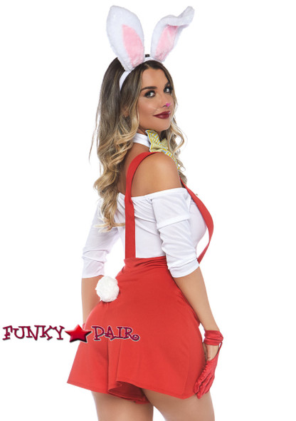 Leg Avenue | LA-86778, Darling Doodle Bunny Romper Costume side view