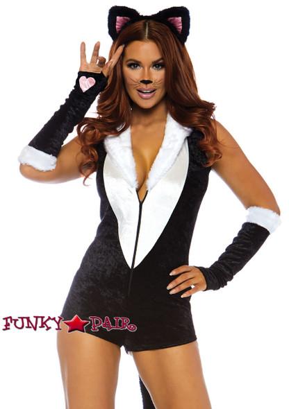 Frisky Kitty Romper Costume Leg Avenue LA-86738