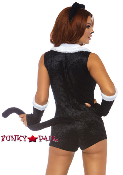 Frisky Kitty Romper Costume Leg Avenue LA-86738 back view