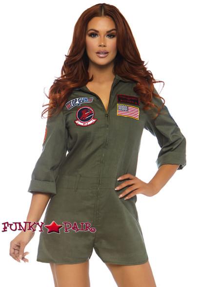 Leg Avenue | TG86747, Top Gun Flight Suit Romper Costume