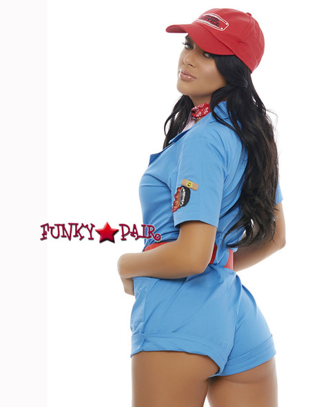 ForPlay | FP-557230, Pit Stop Hottie Romper Costume back view