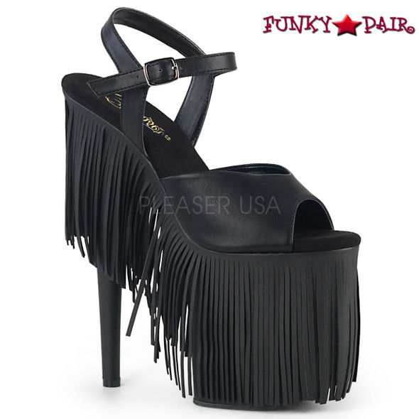 Pleaser Shoes| Flamingo-809FRG, Fringe Platform Sandal