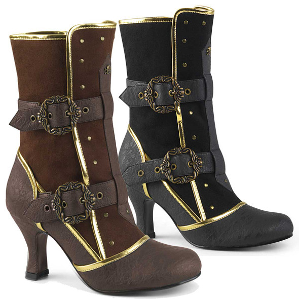 Matey-205, Cosplay Ankle Boots with Octopus Buckle Straps | Funtasma