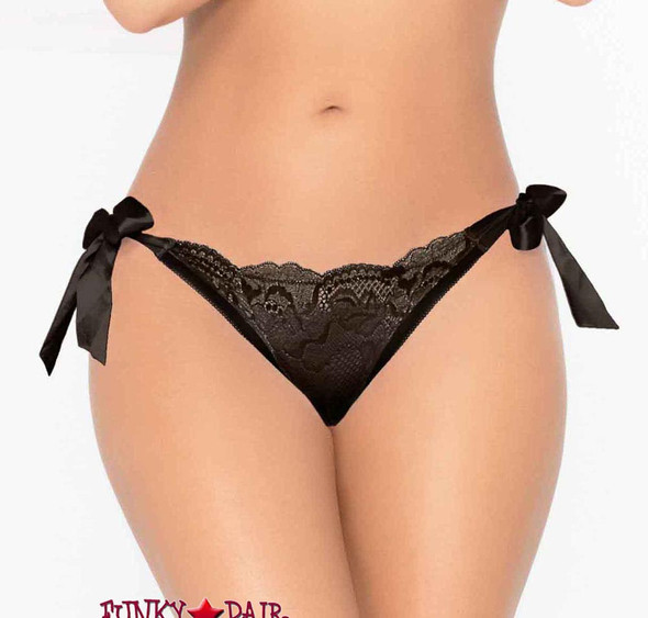 STM-10937, Lurex Lace Panty | Seven 'til Midnight Color black