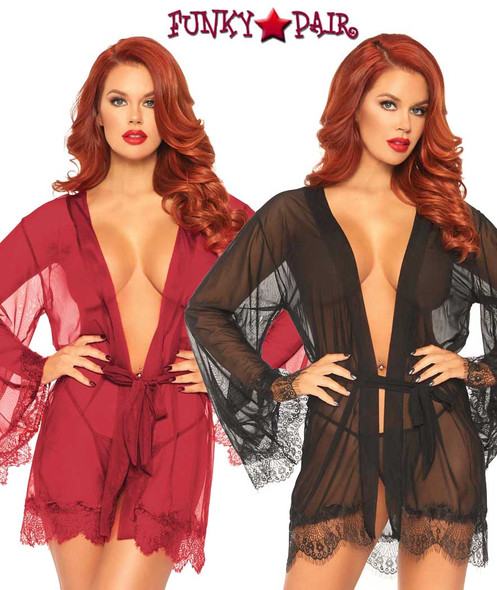 Leg Avenue | LA86107, Sheer Short Robes | FunkyPair.com