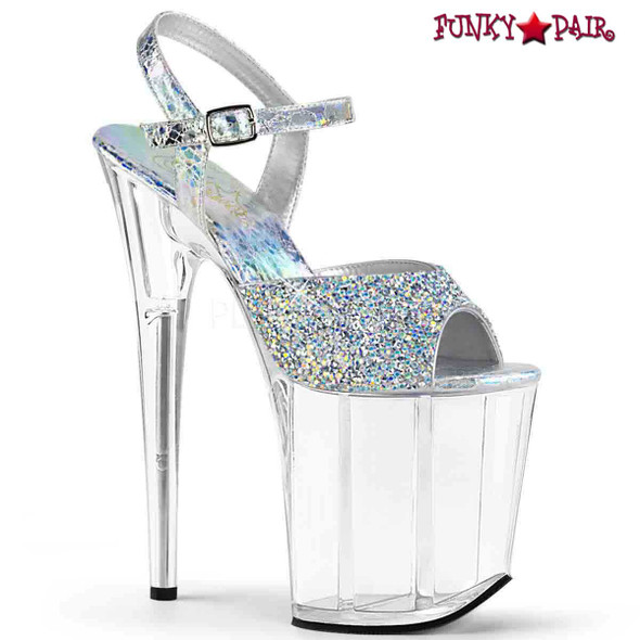 Pleaser | Flamingo-809RS, Multi Rhinestones Platform Sandal | FunkyPair.com