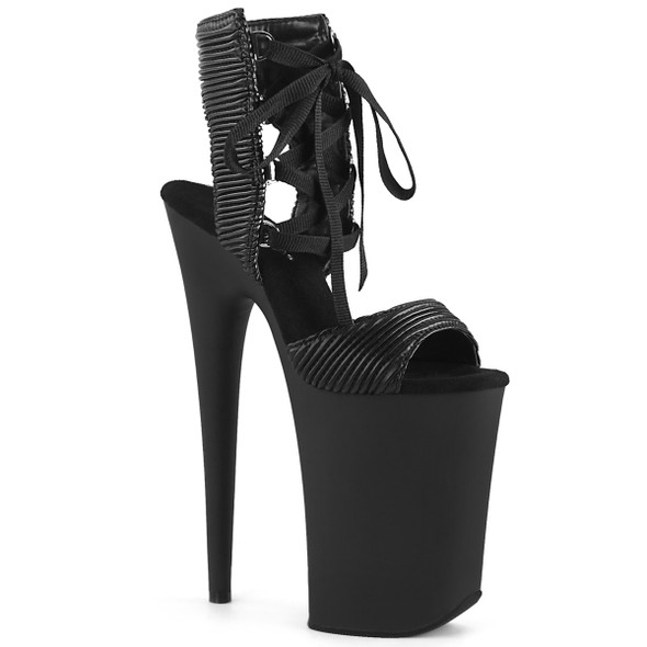 Pleaser   Infinity-900-14, Xtreme High Heel Lace up Sandal