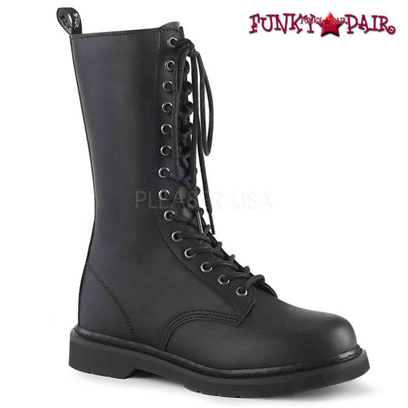 Demonia | BOLT-300, Mid-Calf Lace up Combat Boots