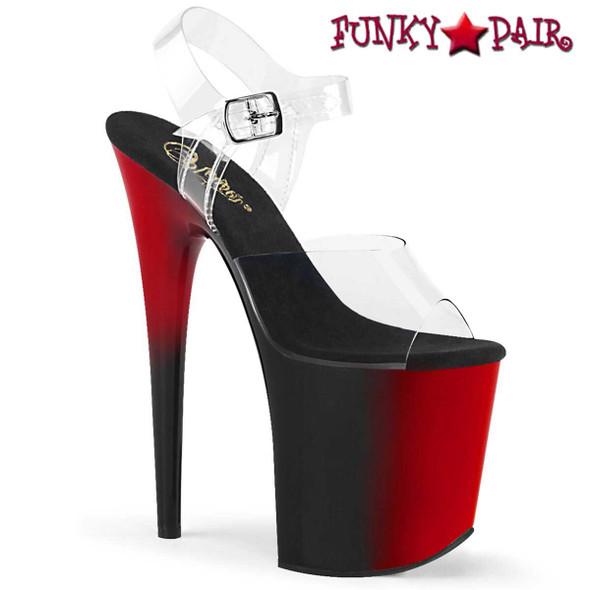 FLAMINGO-808BR, Two Tone Ankle Strap Platform Sandal by Pleaser