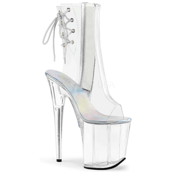 Pleaser Shoes | FLAMINGO-1018C, Clear Ankle Boots