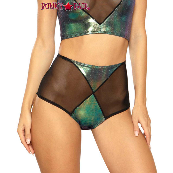 Diamond High-Waist Short by J Valentine JV-FF105 color black opal