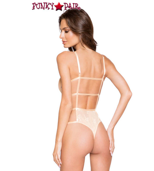 Lace Teddy with Strappy Detail by Roma Costume R-LI272 back view