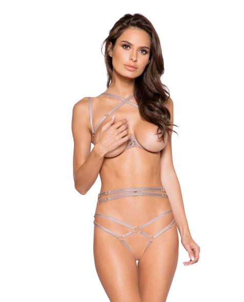 Roma | LI269, Open Cut Bra and Panty Set