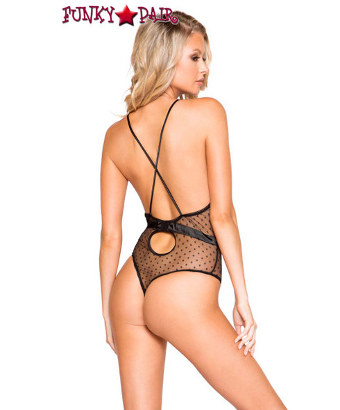 Roma | LI278, Satin and Lace Teddy back view
