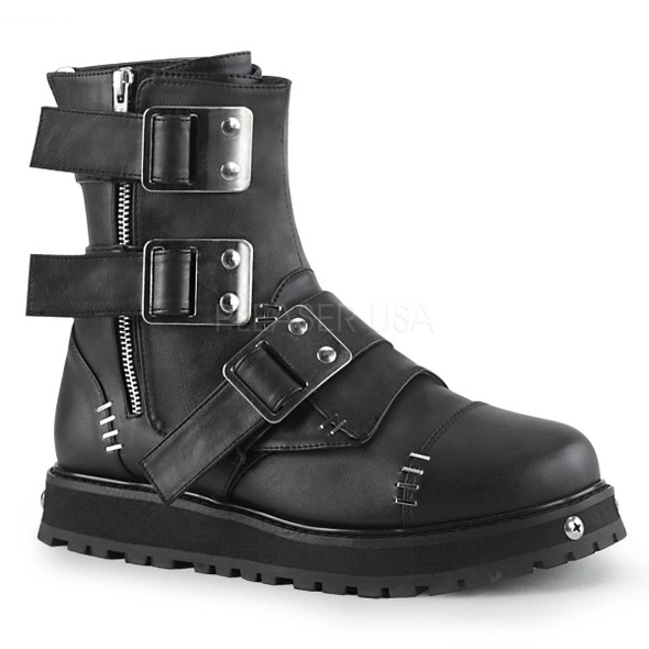 Men's Demonia | VALOR-150, Men's Multi-Straps Ankle Boots