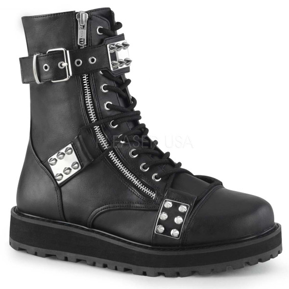 Men's Demonia Boots | VALOR-280, Lace-up Ankle Boots with Spikes