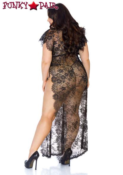 Leg Avenue | LA86103X, Eyelash Lace Robe back view
