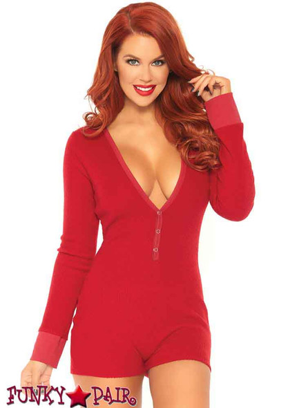 Leg Avenue | LA86649, Romper With Back Flap color red