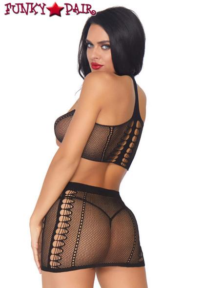 Leg Avenue | LA86792, Choker Harness Bandeau and Mini Skirt back view