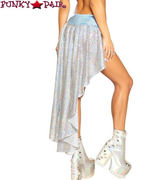SEQUIN SHORTS WITH ATTACHED SKIRT back view Roma R-3754