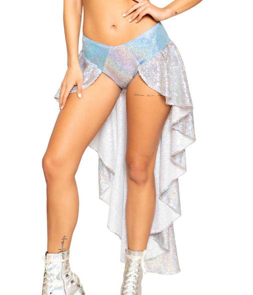 Roma | R-3754, SEQUIN RAVE SHORTS WITH ATTACHED SKIRT