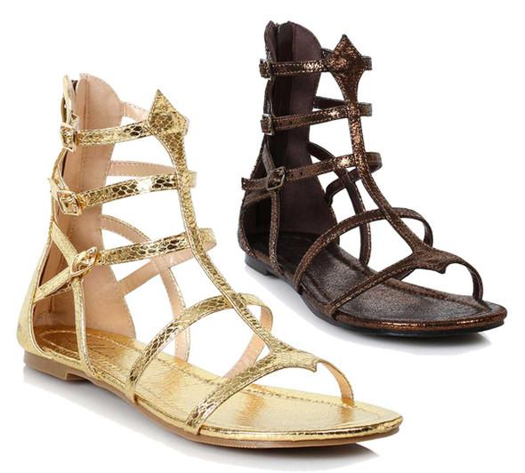 Women Flat Gladiator Sandal   Ellie Shoes 015-Athena