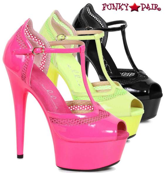 Ellie Shoes | 609-Hailey, Peep Toe T-Strap Sandal FunkyPair.com