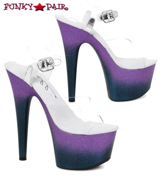 Ellie Shoes | 709-Show, Ombre Platform Ankle Strap Sandal