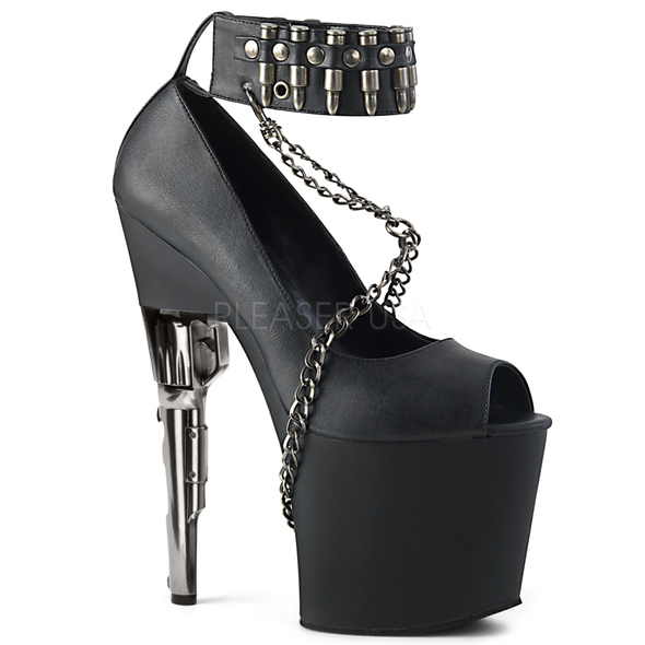Exotic Dancer Shoes | Bondgirl-783, Bullet Heel Platform Peep Toe Pump