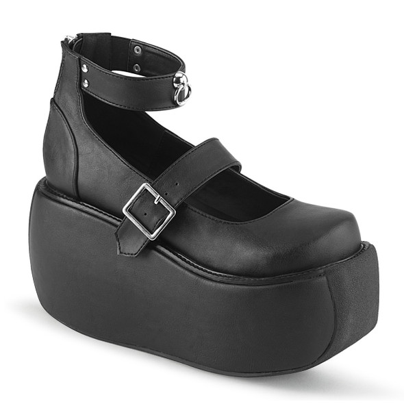 Demonia | Violet-32, Platform Maryjane Sandal with Ankle Band