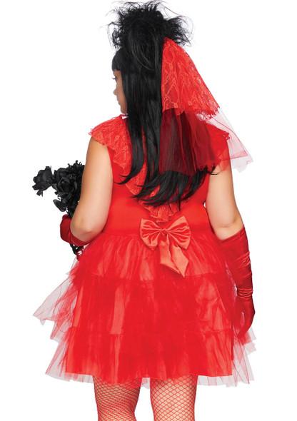 LA-86730X, Plus Size Beetle Bride Costume by Leg Avenue