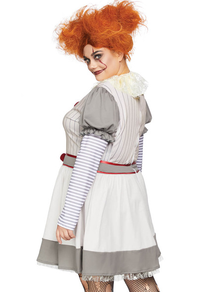 Leg Avenue LA-86729X, Plus Size | Women's Creepy Clown Costume Back View