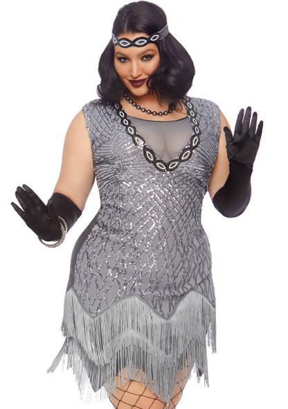Plus Size Roaring Roxy Flapper Costume by Leg Avenue LA-86855X