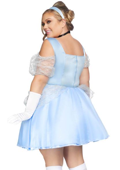 Leg Avenue LA-86879X, Plus Size Glass Slipper Sweetie Costume Back View