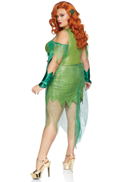 leg Avenue LA-86872X, Plus Size Perfect Poison Costume Back View