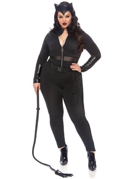 Plus Size Sultry Supervillain Costume by Leg Avenue LA-86841X, Full View