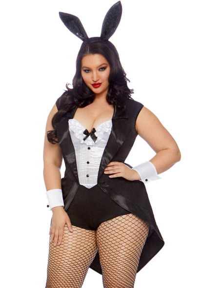 Plus Size Tuxedo Bunny Costume | Leg Avenue LA-86832X