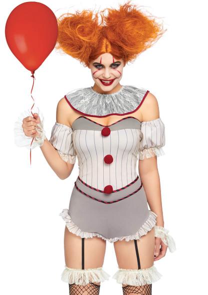 LA-86830, Women's Killer Sewer Clown Costume by Leg Avenue