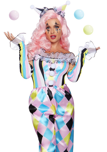 Women's Pretty Parisian Clown Costume, by Leg Avenue LA-86865