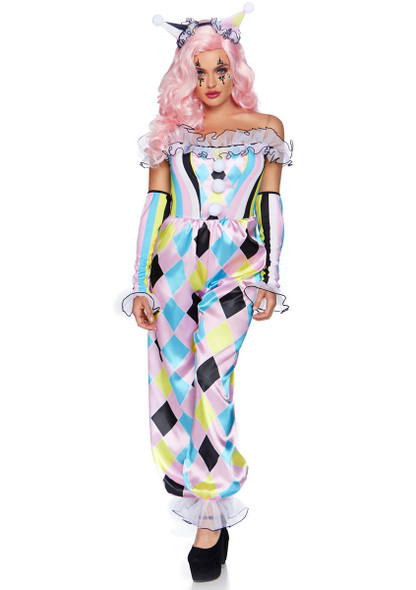 Leg Avenue | LA-86865, Women's Pretty Parisian Clown Costume Full View