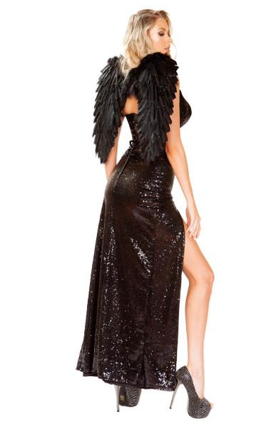 Wicked Dark Angel Costume Roma | R-4912, Back View